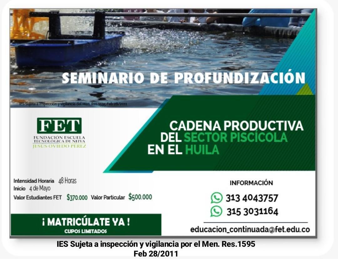 Seminario de Profundización Sector Piscícola